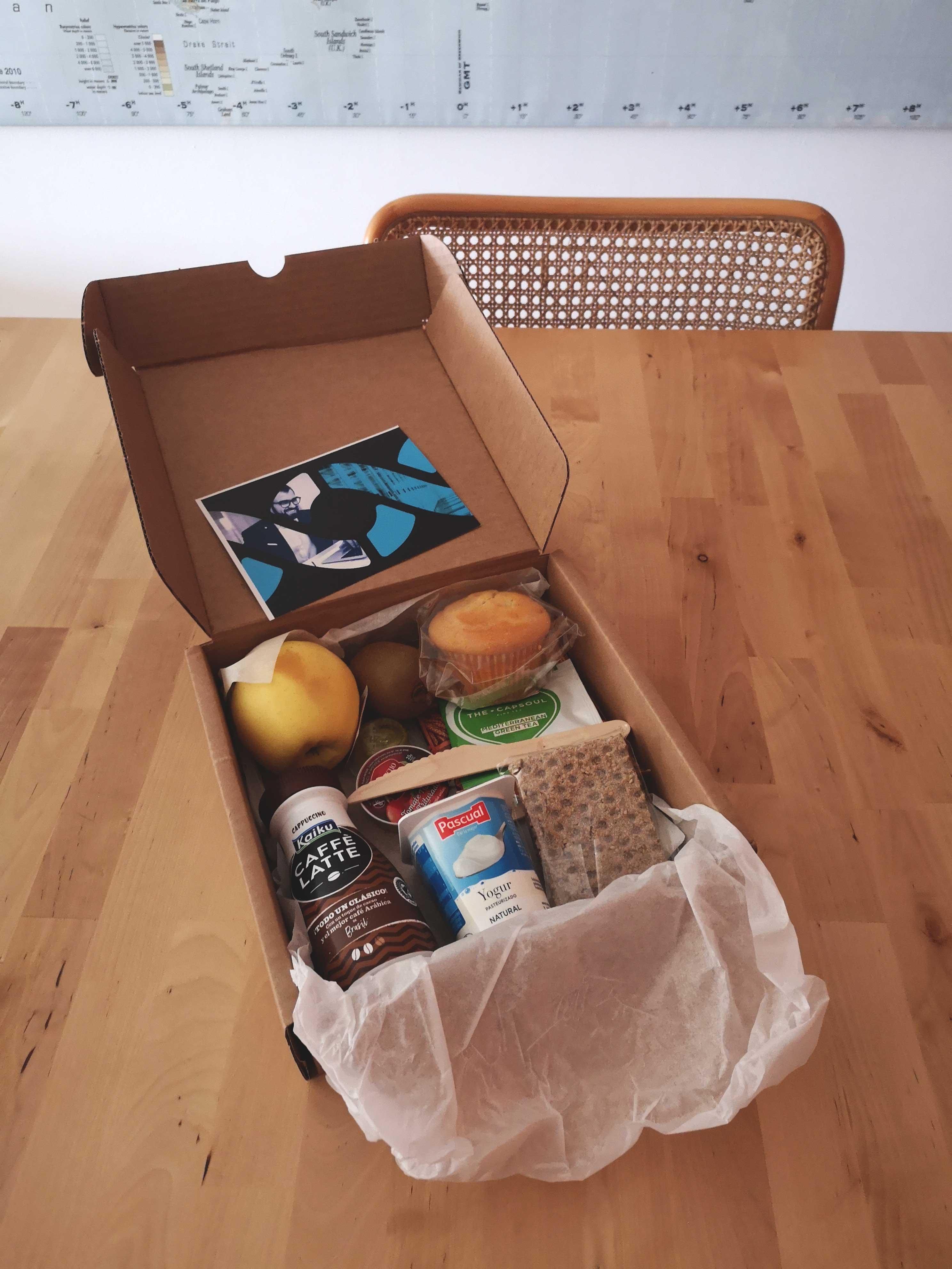 Desayuno que recibieron los participantes