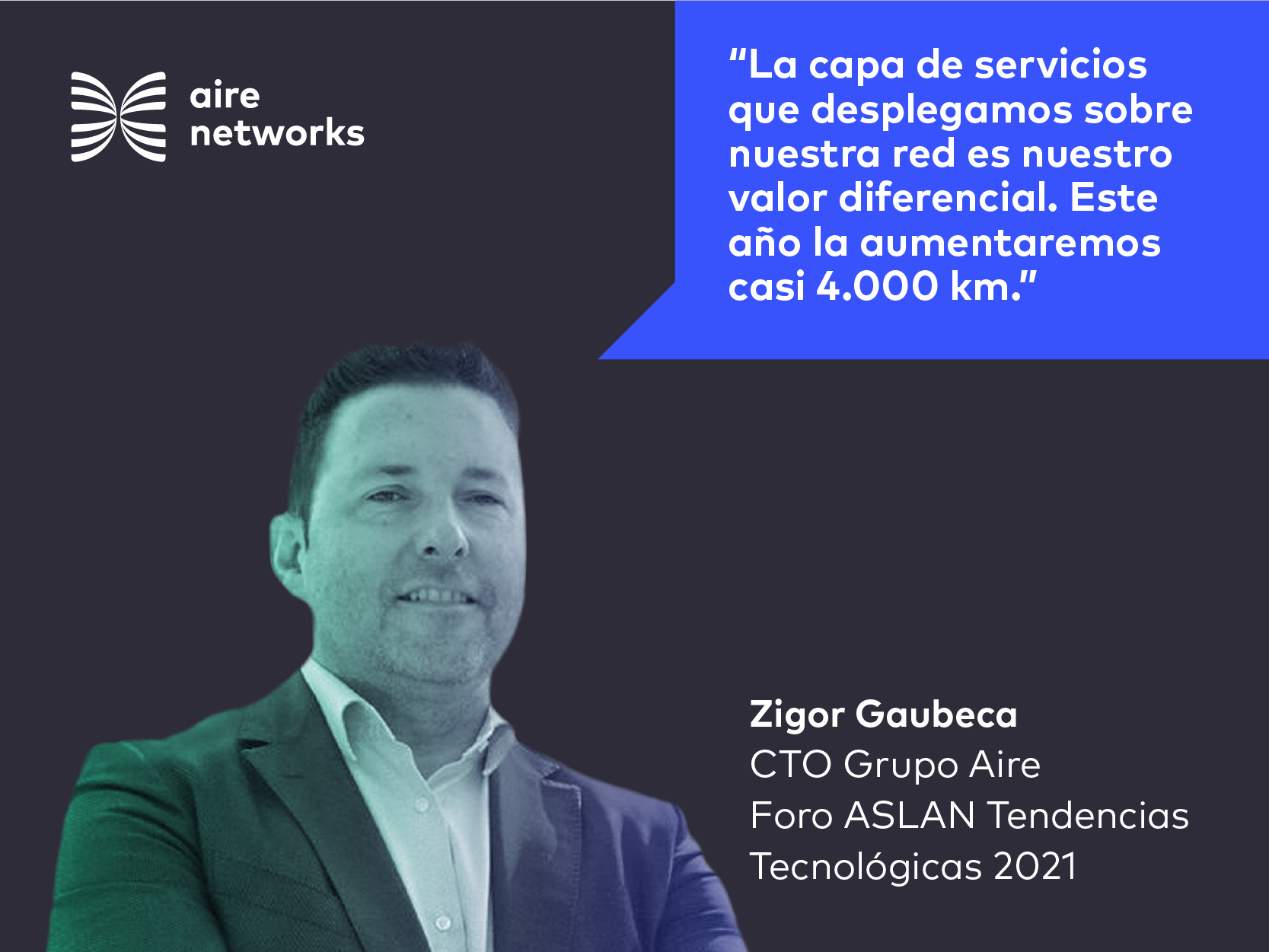 Zigor Gaubeca, CTO de Aire Networks